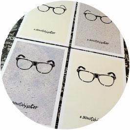"""Poster-Set """"Nerd-Brillen"""", vierteilig"""