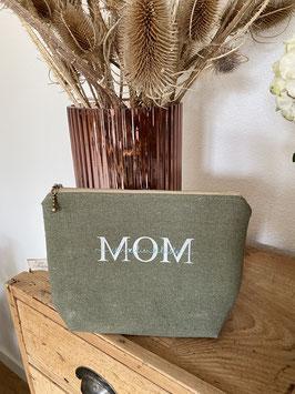 ,,MOM ist die beste'' Khaki/Silber / Groß