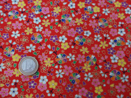 neue Stoffe authentische Japanische Muster/KOZAKURA KOUME GARA Rot