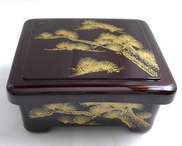 NEU lackierte JÛBAKO BOX Kiefer Muster aus Japan 重箱老松