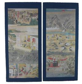 Buddhistische Bildereihe Hölle und Himmel(16-teilig) 地獄天国絵図