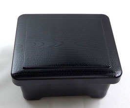NEU lackierte JÛBAKO BOX ungemustert schwarz innen rot aus Japan