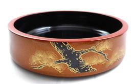 NEU runde lackierte SHUSHI OKE NASHIJI NURI Kifer Muster innen schwar aus Japan