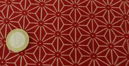 neue Stoffe authentische Japanische Muster/ASA GARA KON /Hanf Muster Rot