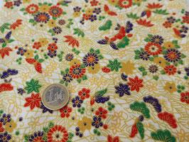neue Stoffe authentische Japanische Muster/SHÔCHIKUBAI GARA/gold
