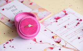 NEU Ringbox rund, Farbe MAGENTA PINK