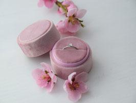 NEU Ringbox rund, Farbe PASTELL ROSE