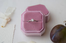 RINGBOX ACHTECK , FARBE ORCHIDEE
