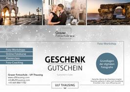 Gutschein Fotoworkshop: Grundlagen der digitalen Fotografie - Weihnachtsdesign