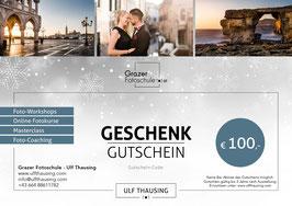 Wertgutschein für Fotoworkshops - Weihnachtsdesign