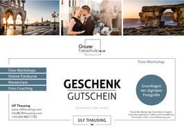 Gutschein - Workshop: Grundlagen der digitalen Fotografie