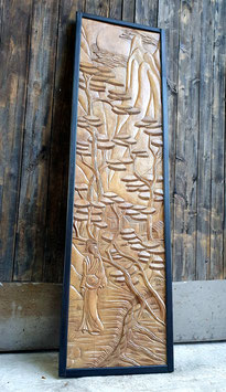 Tablero o Panel oriental (Madera tallada) / Oriental Board or Panel (Carved Wood)