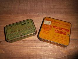 Antiguas cajas de medicamentos / Ancient medicine boxes