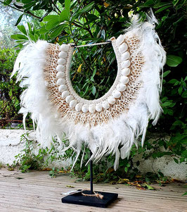 Collar Tribal Plumas (Indonesia) Tribal Feathers Necklace