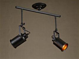 Lámpara de doble foco (retro - industrial) Lamp of double focus