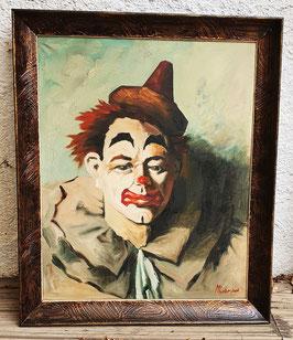 Cuadro Vintage Payaso / Vintage Clown Painting