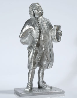 Johann Sebastian Bach as a 3 dimensional tin figure, UNPAINTED