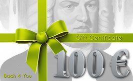 Bach Gift Certificate 100.00 €