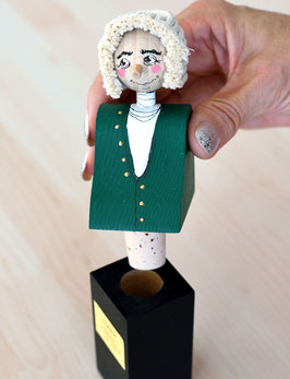 Johann Sebastian Bach Figure as Bottle Stopper