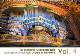 """The Pipe Organ Calendar """"The Most Beautiful Organs in the World"""" Vol. 4, A4"""