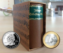 Johann Sebastian Bach - Miniature Biography with a Leather Cover in a Slipcase