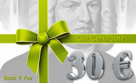 Bach Gift Certificate 30.00 €