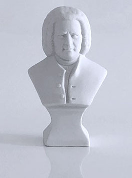 Johann Sebastian Bach Bust made of Bisque Porcelain