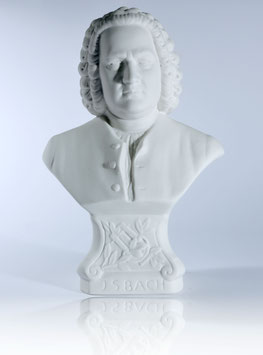 Johann Sebastian Bach Bust made of Bisque Porcelain + 2 Free Bach Add-Ons **