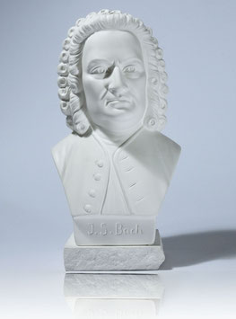 Johann Sebastian Bach Bust made from Alabaster gypsum + 2 Free Bach Add-Ons **
