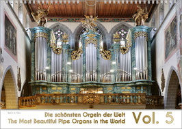 """The Pipe Organ Calendar """"The Most Beautiful Organs in the World"""" 2021, A2"""