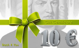 Bach Gift Certificate 10.00 €