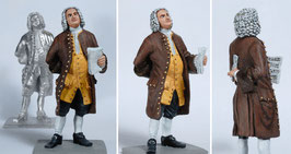 Johann Sebastian Bach as a 3 dimensinale tinfigure, PAINTED by Hand from an artist