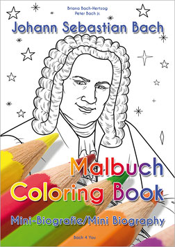 Johann Sebastian Bach Coloring Book and Mini Biography in English + German