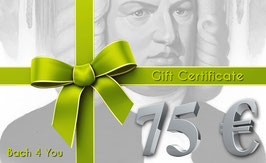 Bach Gift Certificate 75.00 €
