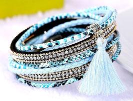 Bracelet Bresilien Sky Blue