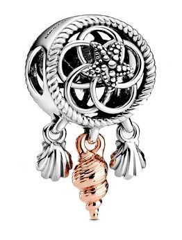 "Charm Pendant Hymne Océan Or Rose ""Excp"""