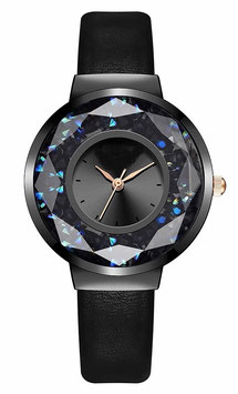 "Montre Femme ""The Mini Black Facette"""