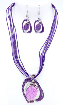 Collier Métal Fantaisy Purple