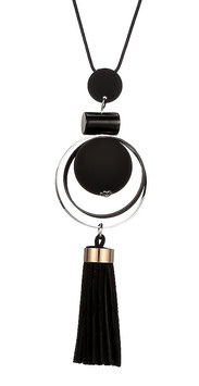Collier Femme Round and Wood - Black