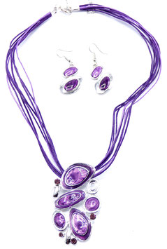 Collier  Crazy Circle Purple