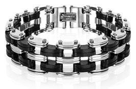 Bracelet Homme First Acier & Noir