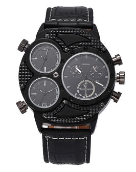 Montre Homme Watch Men's Luxury Black