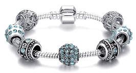 Bracelet Charm'S Blue Lagon