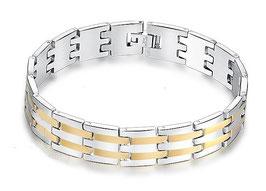 Bracelet Homme First Or/Acier