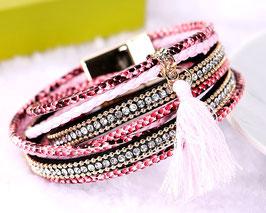 Bracelet Bresilien Pink Sun