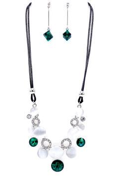 Parure Cristal & Opale Color Vert