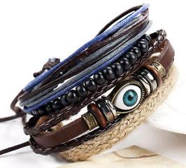 Bracelet Nazar Boncuk Cuir