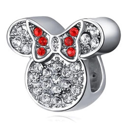 "Charm Minnie en Ruban Rouge ""Excp"""