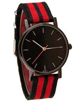 Montre Tissu Jungle City - Red