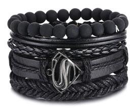 "Bracelet ""The S"" Men Black Edition"